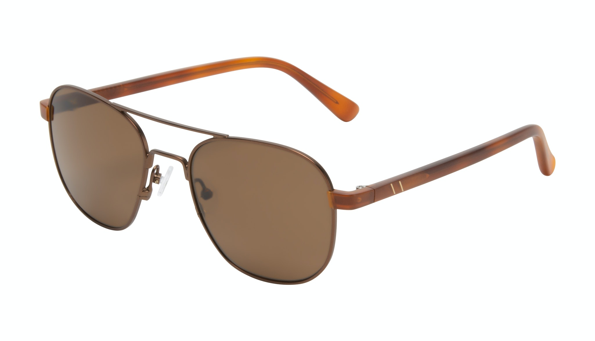 Affordable Fashion Glasses Aviator Sunglasses Men Pulse Brass Tilt