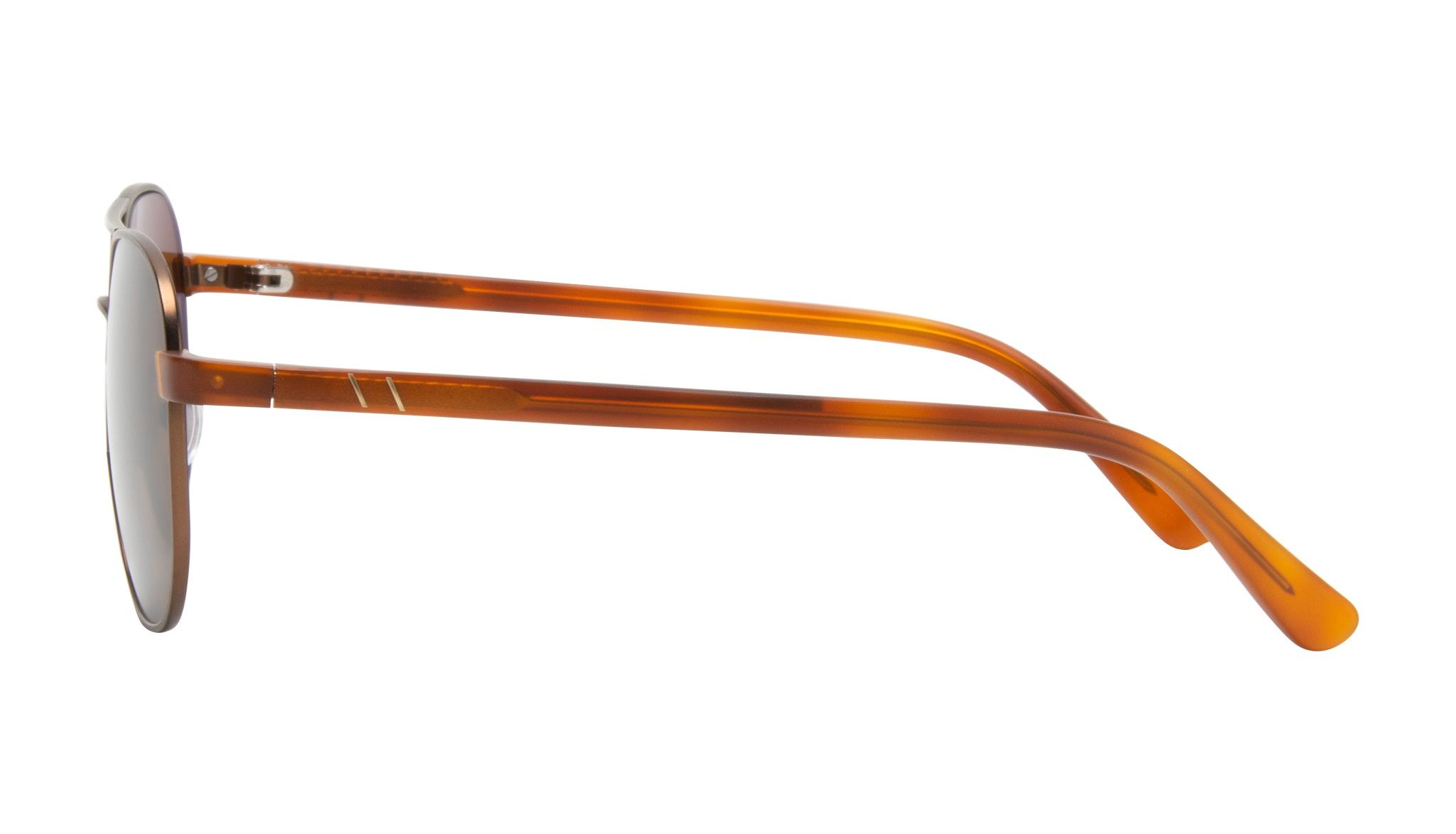 Affordable Fashion Glasses Aviator Sunglasses Men Pulse Brass Side