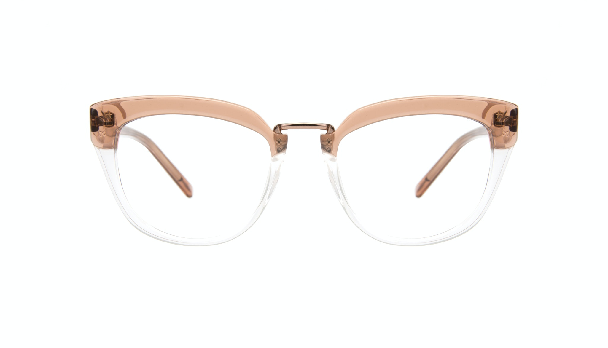 Affordable Fashion Glasses Cat Eye Daring Cateye Eyeglasses Women Pure Rose Front