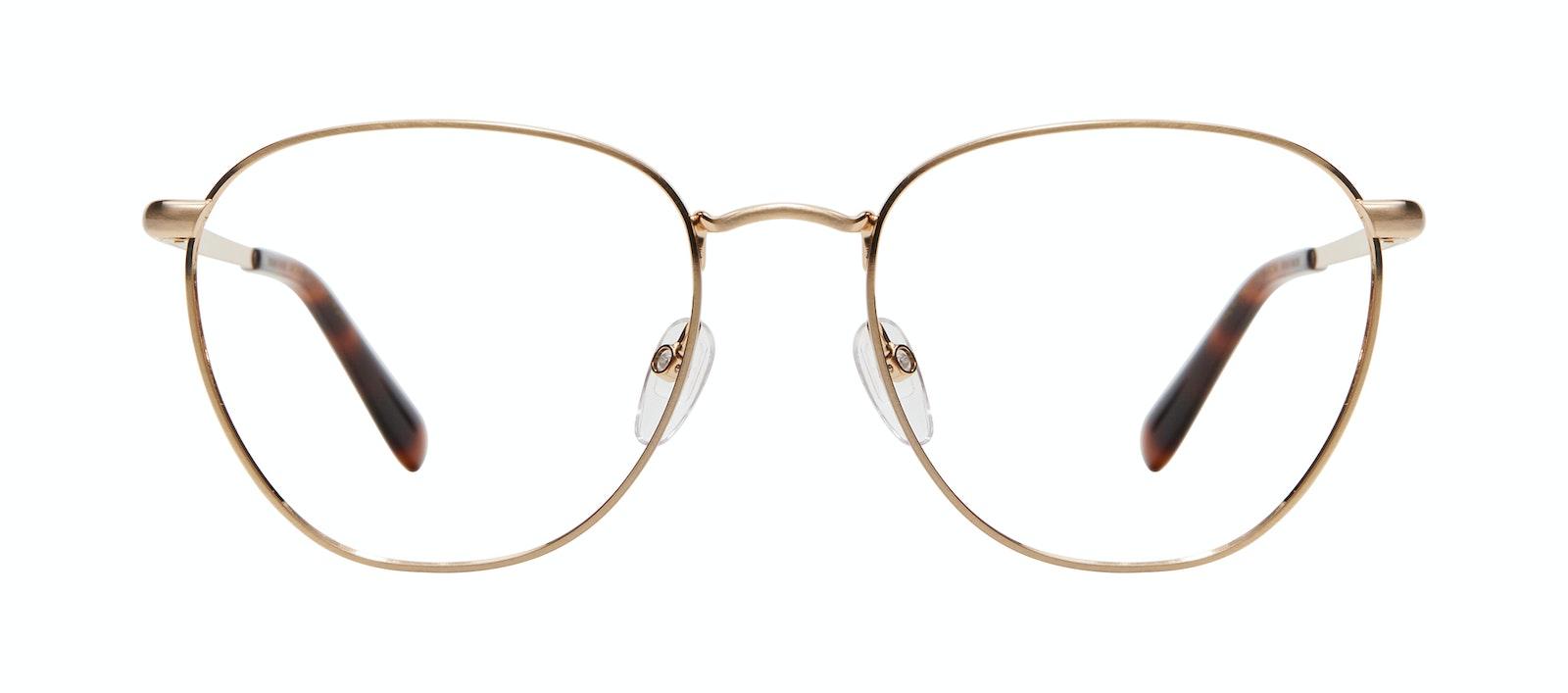 Affordable Fashion Glasses Round Eyeglasses Women Radiant Matte Gold Front