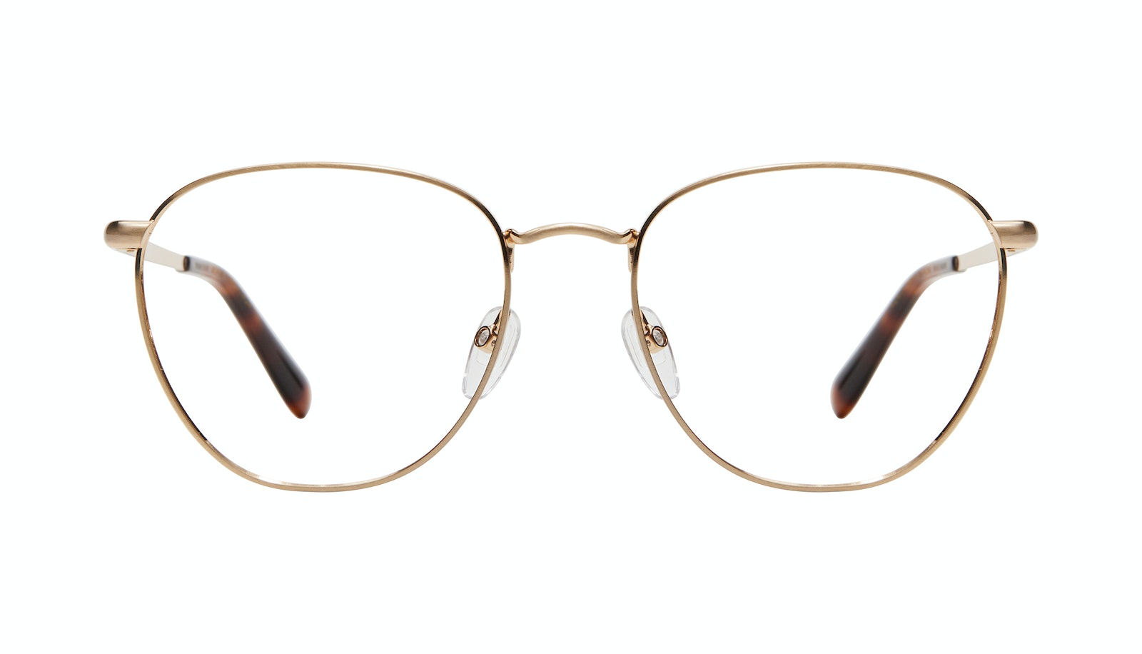 Affordable Fashion Glasses Round Eyeglasses Women Radiant Matte Gold