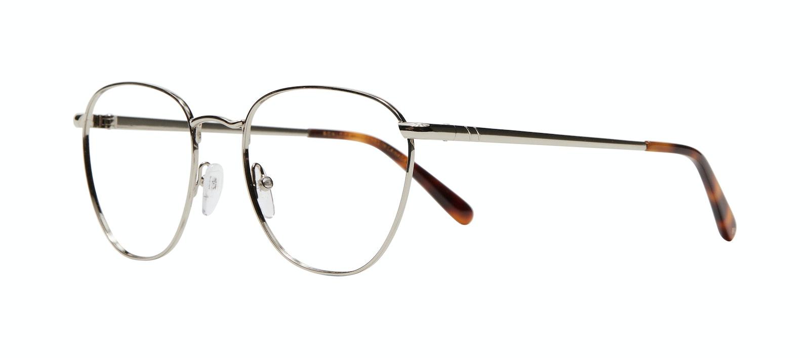 Affordable Fashion Glasses Round Eyeglasses Women Radiant Silver Tilt