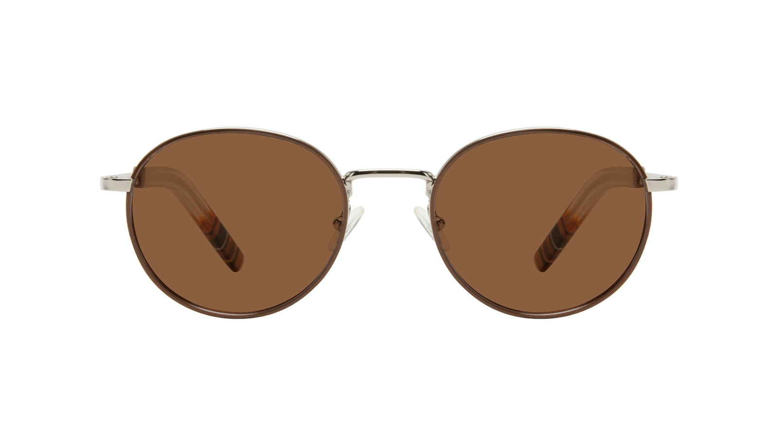 Affordable Fashion Glasses Round Sunglasses Men Reach Brown Steel