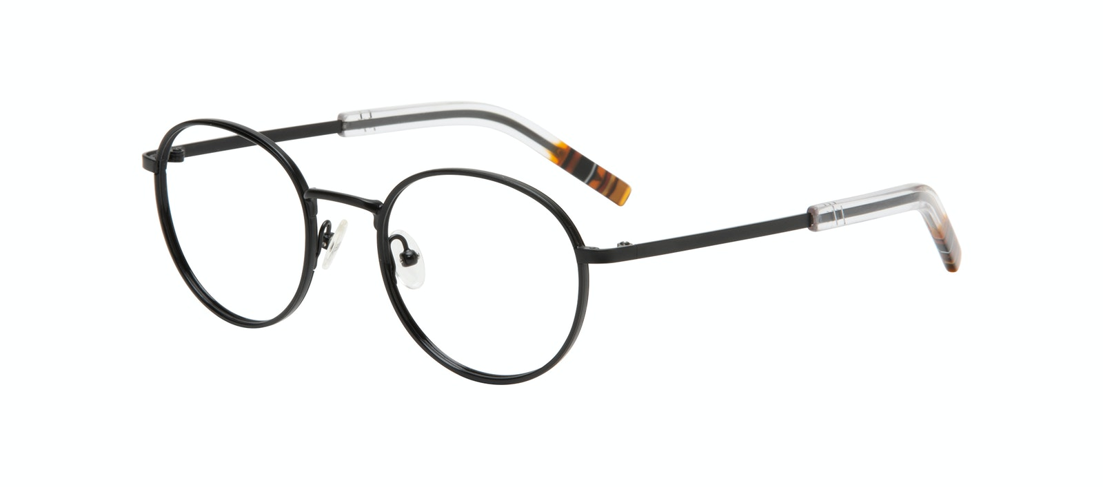 Affordable Fashion Glasses Round Eyeglasses Men Reach Matte Black Tilt