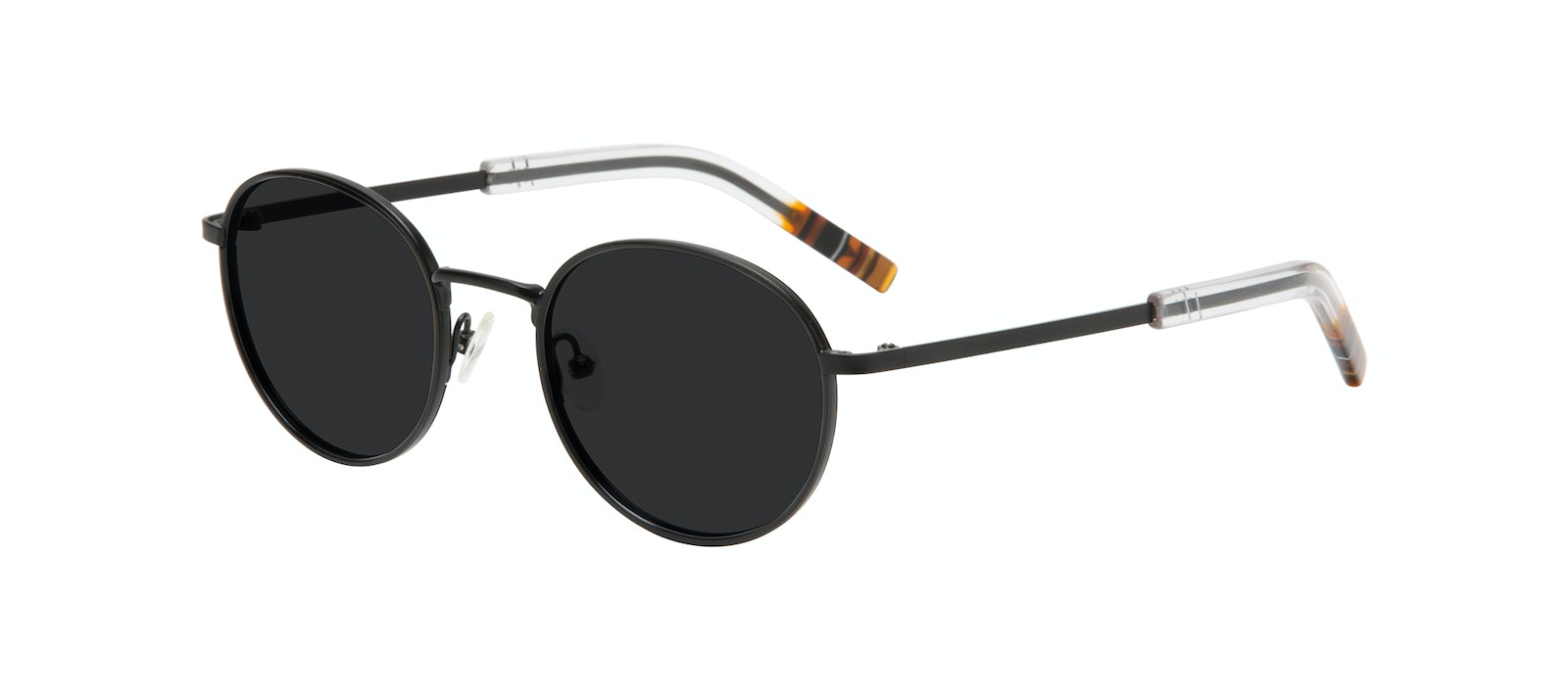 Affordable Fashion Glasses Round Sunglasses Men Reach Matte Black Tilt