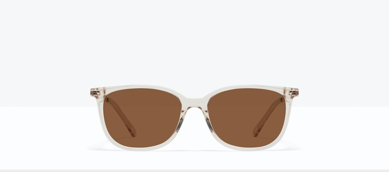 Affordable Fashion Glasses Rectangle Square Sunglasses Women Refine S Blond Front