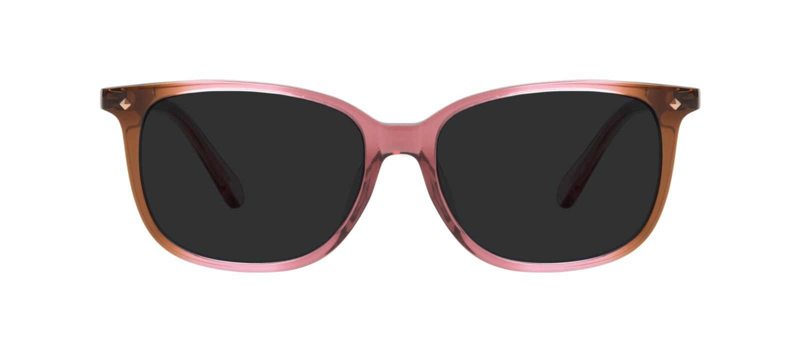 Affordable Fashion Glasses Square Sunglasses Women Refine Petite Garnet Front