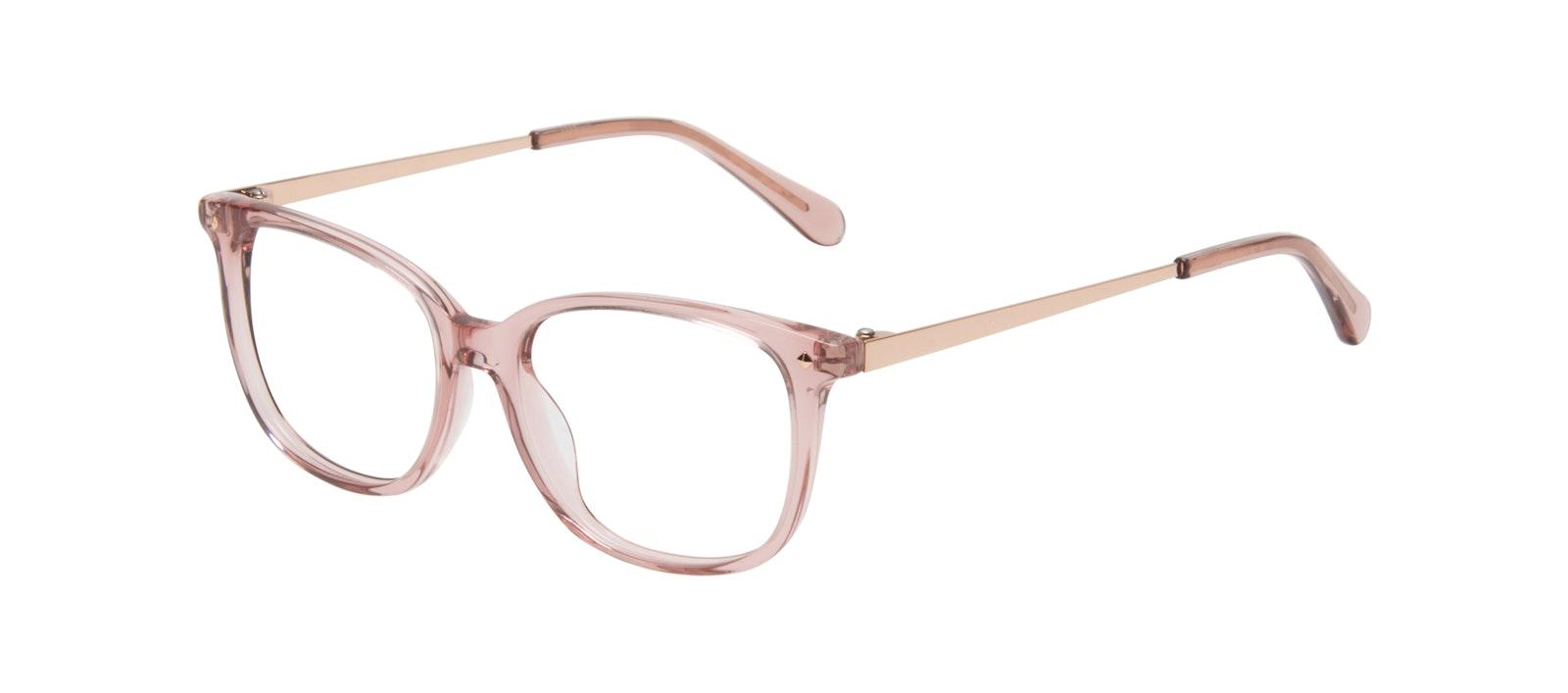 Affordable Fashion Glasses Rectangle Square Eyeglasses Women Refine Rose Tilt
