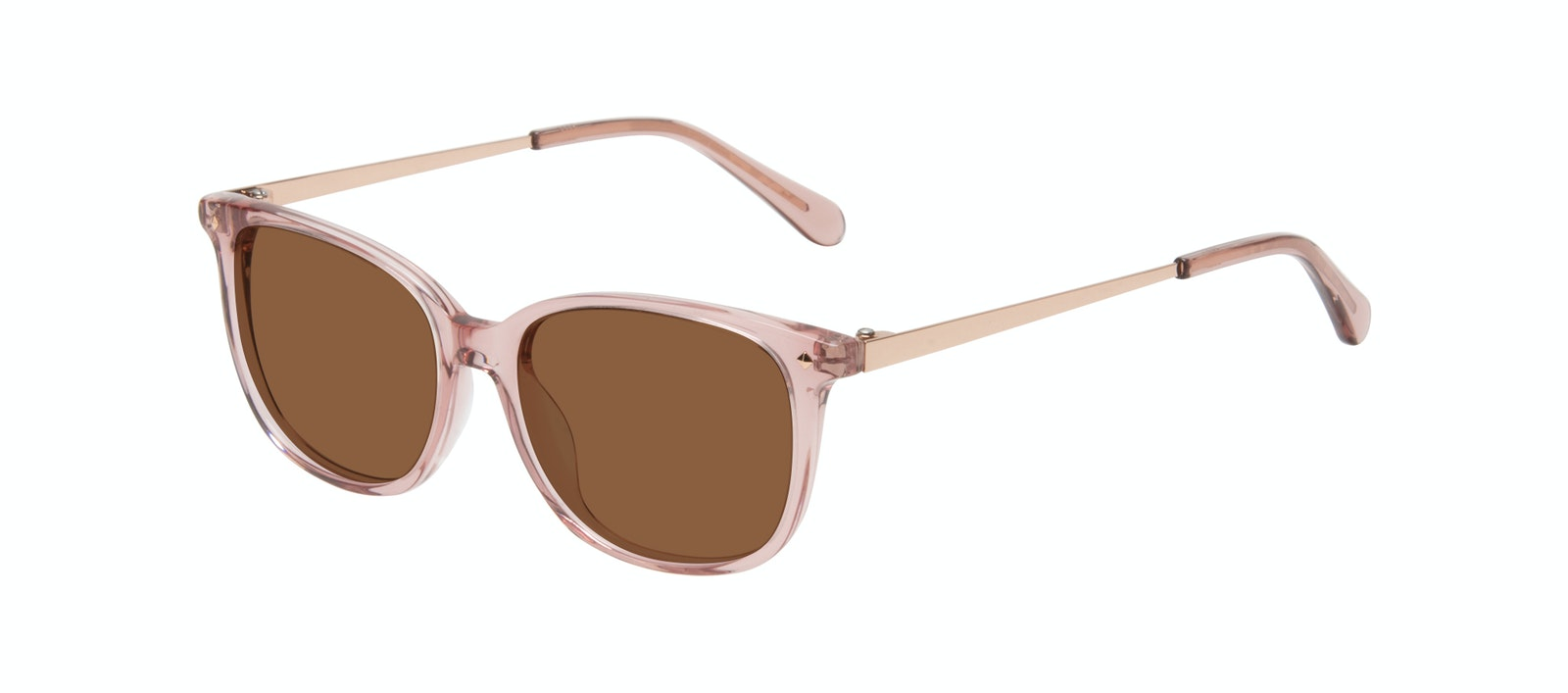 Affordable Fashion Glasses Square Sunglasses Women Refine Petite Rose Tilt