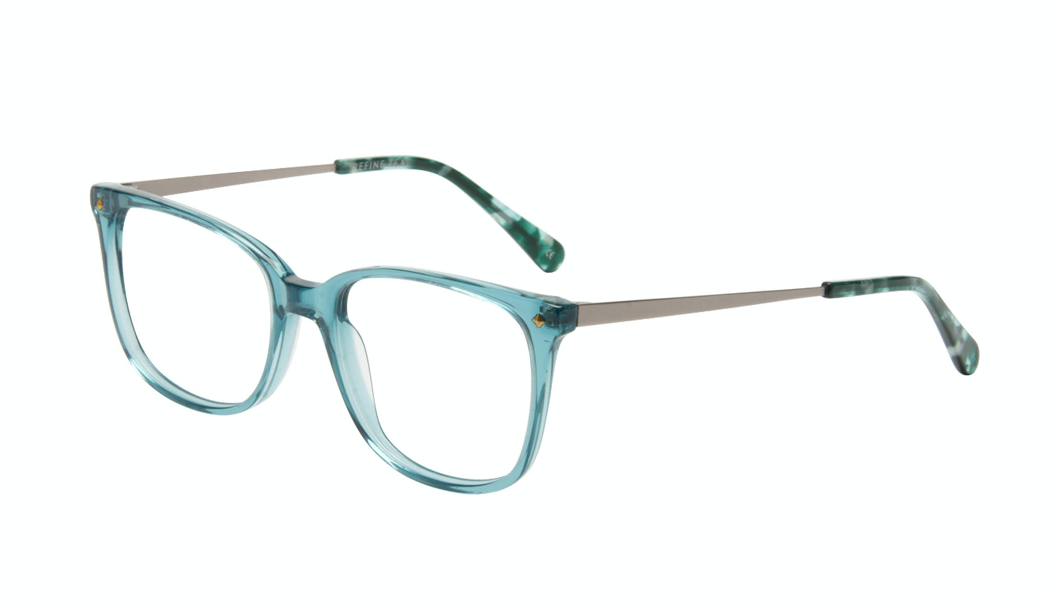 Affordable Fashion Glasses Rectangle Square Eyeglasses Women Refine Teal Tilt