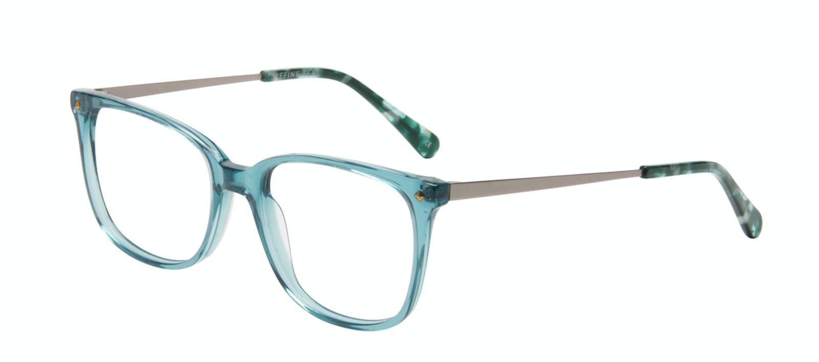 Affordable Fashion Glasses Rectangle Square Eyeglasses Women Refine Teal Tilt