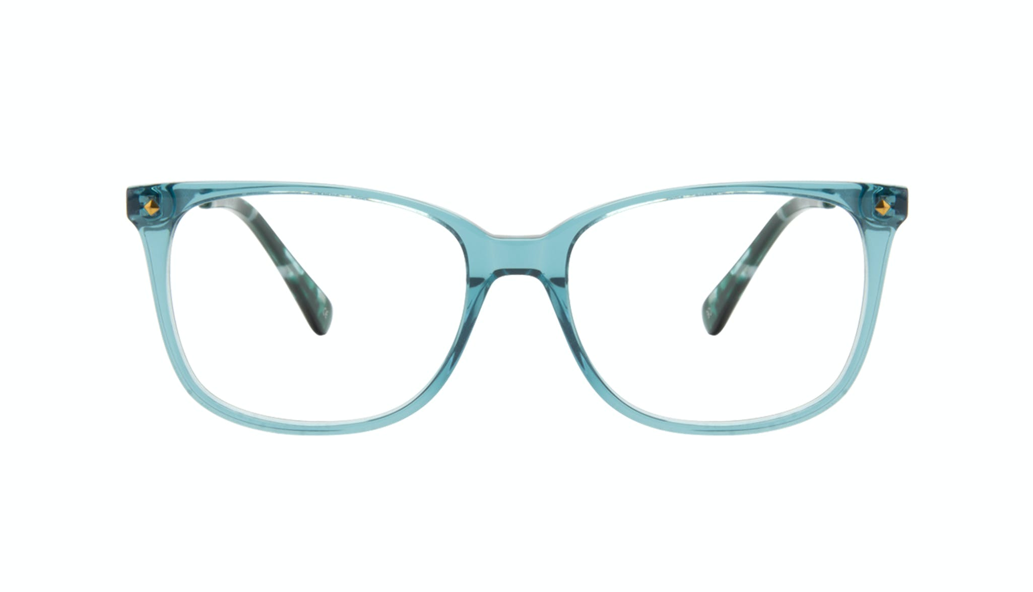 Affordable Fashion Glasses Rectangle Square Eyeglasses Women Refine Teal