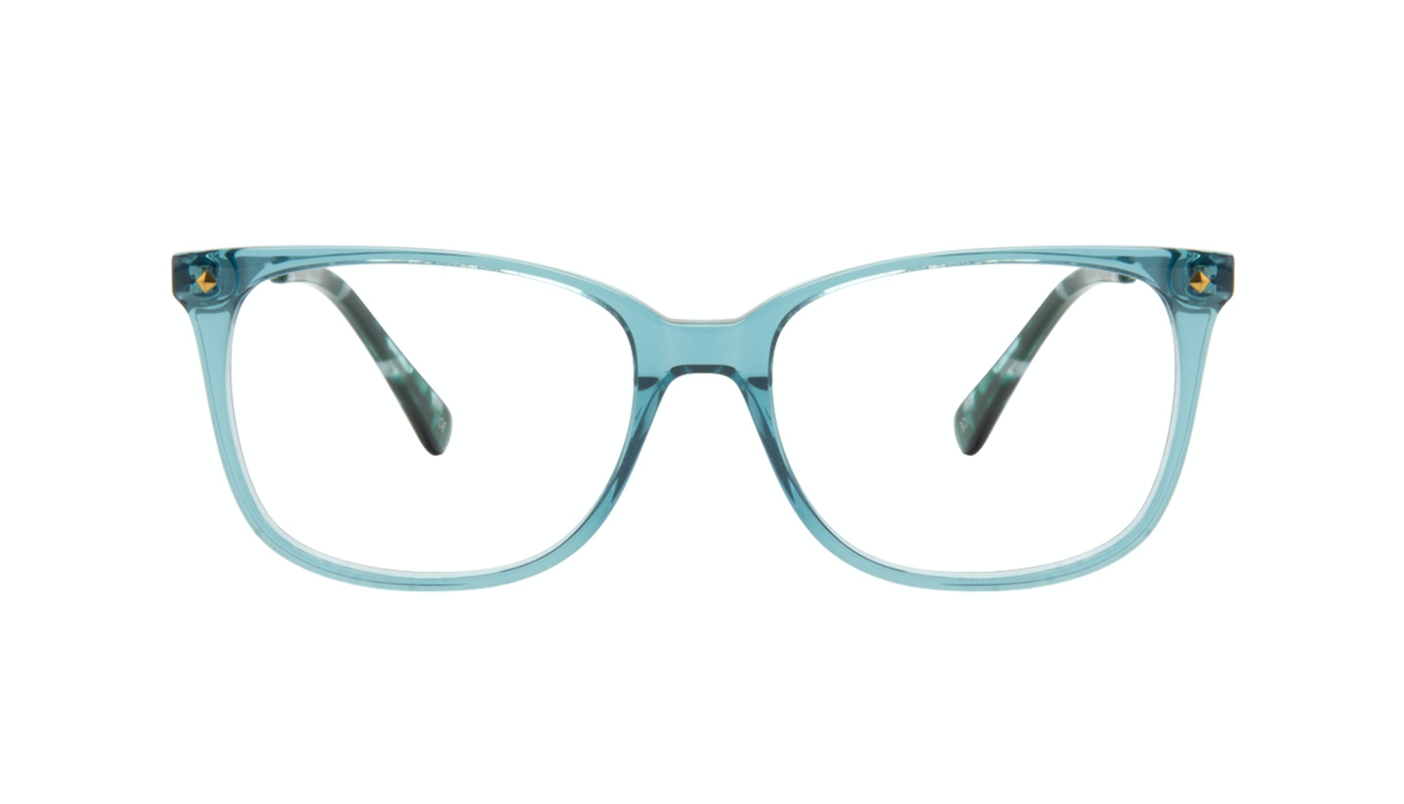 Affordable Fashion Glasses Rectangle Square Eyeglasses Women Refine Teal