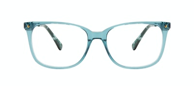 Affordable Fashion Glasses Rectangle Square Eyeglasses Women Refine Teal Front