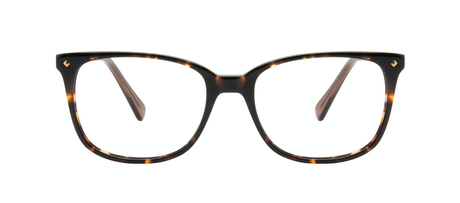 Affordable Fashion Glasses Rectangle Square Eyeglasses Women Refine Tortoise Front