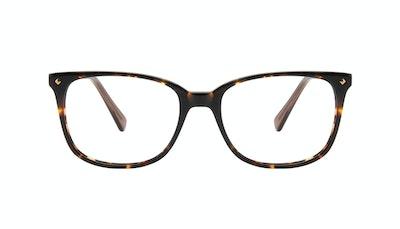 Affordable Fashion Glasses Rectangle Square Eyeglasses Women Refine M Tortoise Front