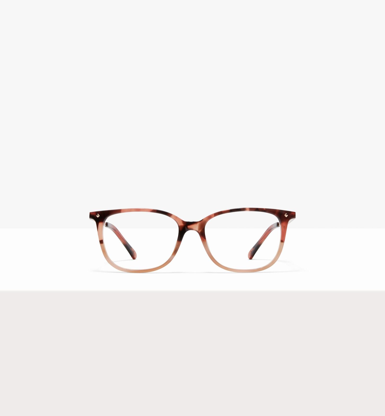 Affordable Fashion Glasses Rectangle Square Eyeglasses Women Refine M Two Tone Pink Tort