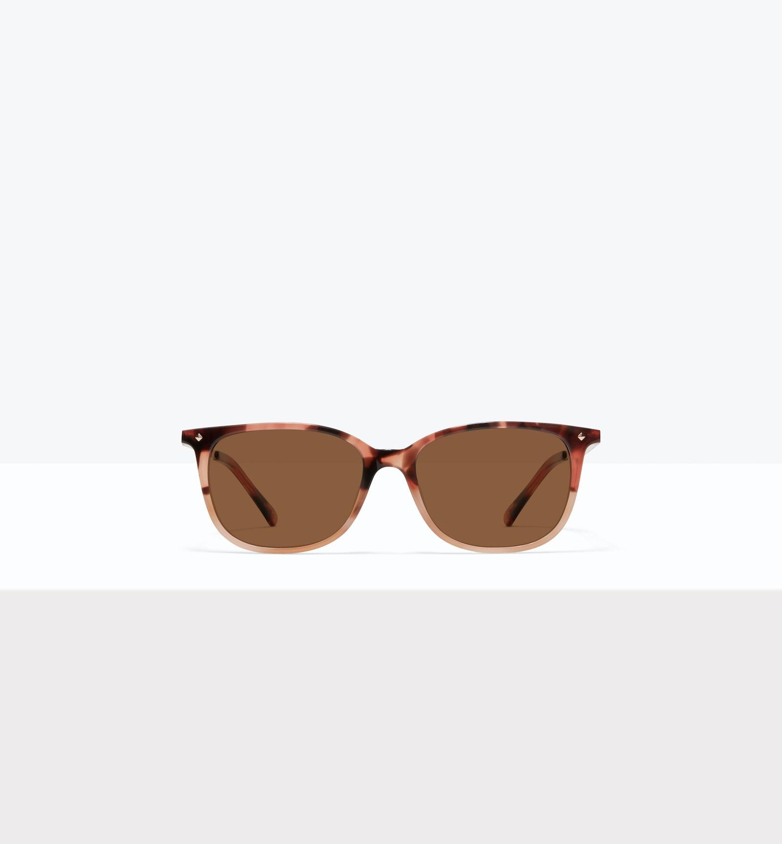 Affordable Fashion Glasses Rectangle Square Sunglasses Women Refine M Two Tone Pink Tort