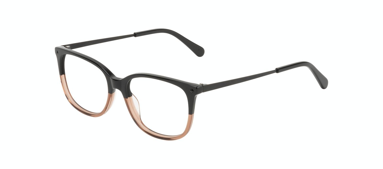 Affordable Fashion Glasses Rectangle Square Eyeglasses Women Refine Wood Terra Tilt