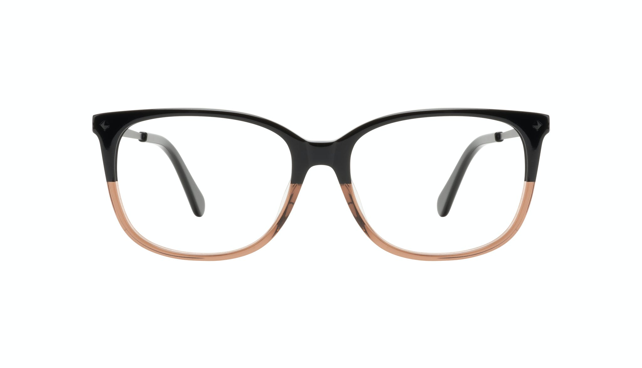 Affordable Fashion Glasses Rectangle Square Eyeglasses Women Refine Wood Terra Front