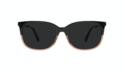 Affordable Fashion Glasses Rectangle Square Sunglasses Women Refine Wood Terra Front