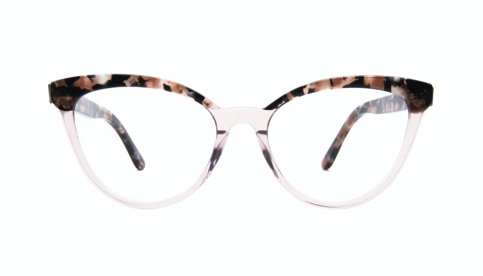 Affordable Fashion Glasses Cat Eye Daring Cateye Eyeglasses Women Reverie Rose Tort Front