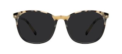 Affordable Fashion Glasses Round Sunglasses Women Revive Ebony Granite Front