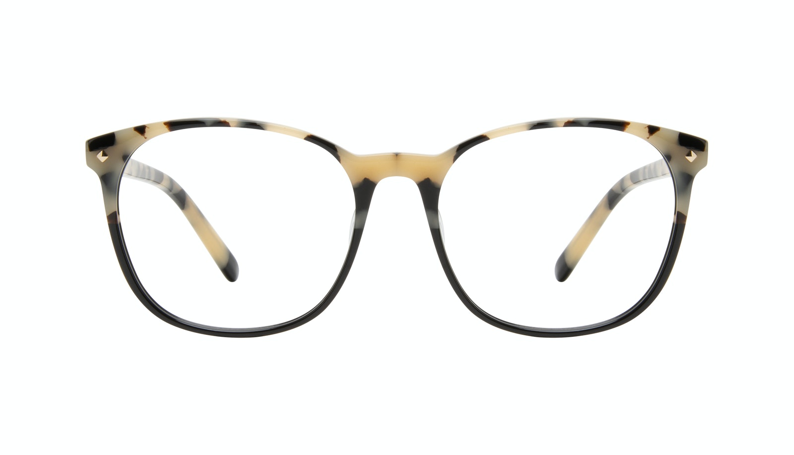 Affordable Fashion Glasses Round Eyeglasses Women Revive Ebony Granite