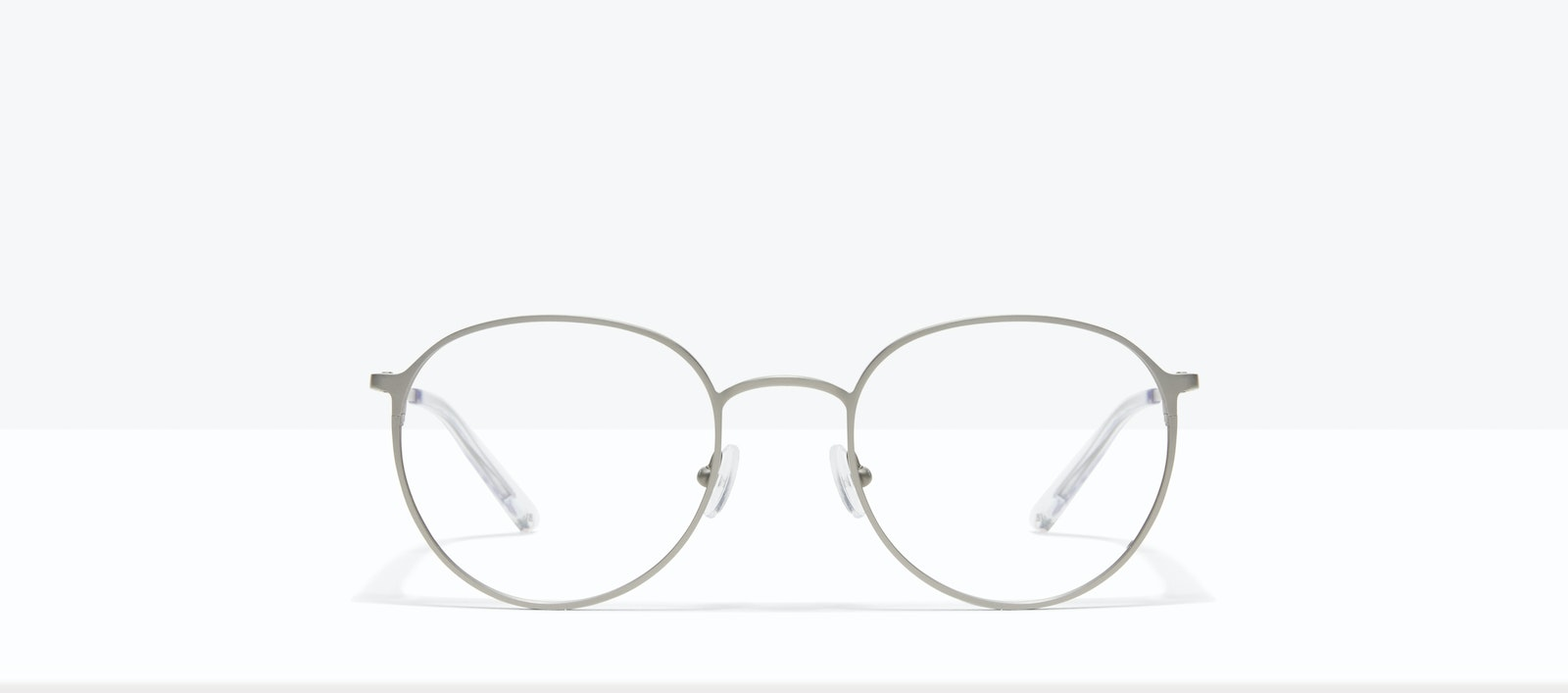 Affordable Fashion Glasses Round Eyeglasses Men Ridge Silver Front