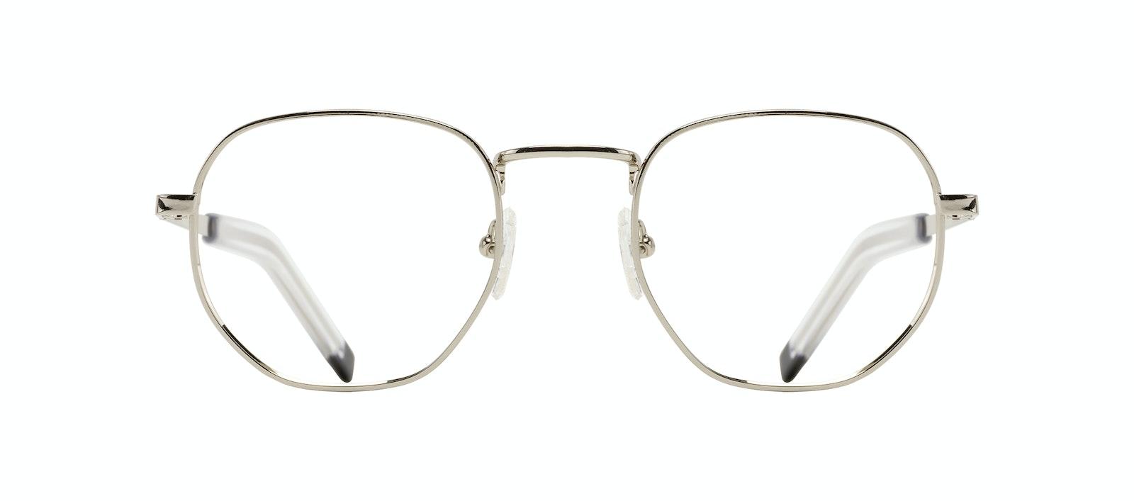 Affordable Fashion Glasses Round Eyeglasses Men Rise Silver Front