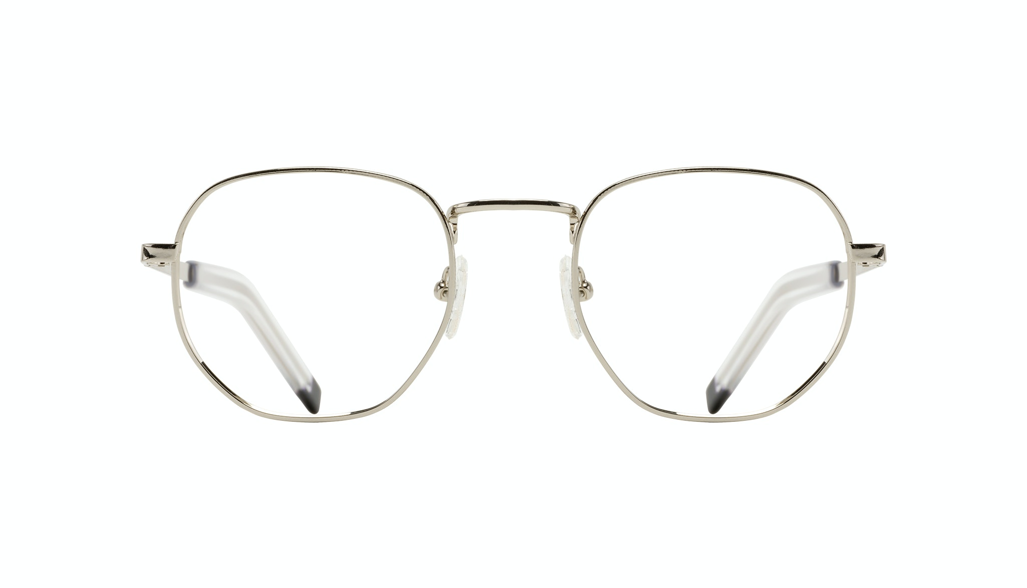 Affordable Fashion Glasses Round Eyeglasses Men Rise Silver Front