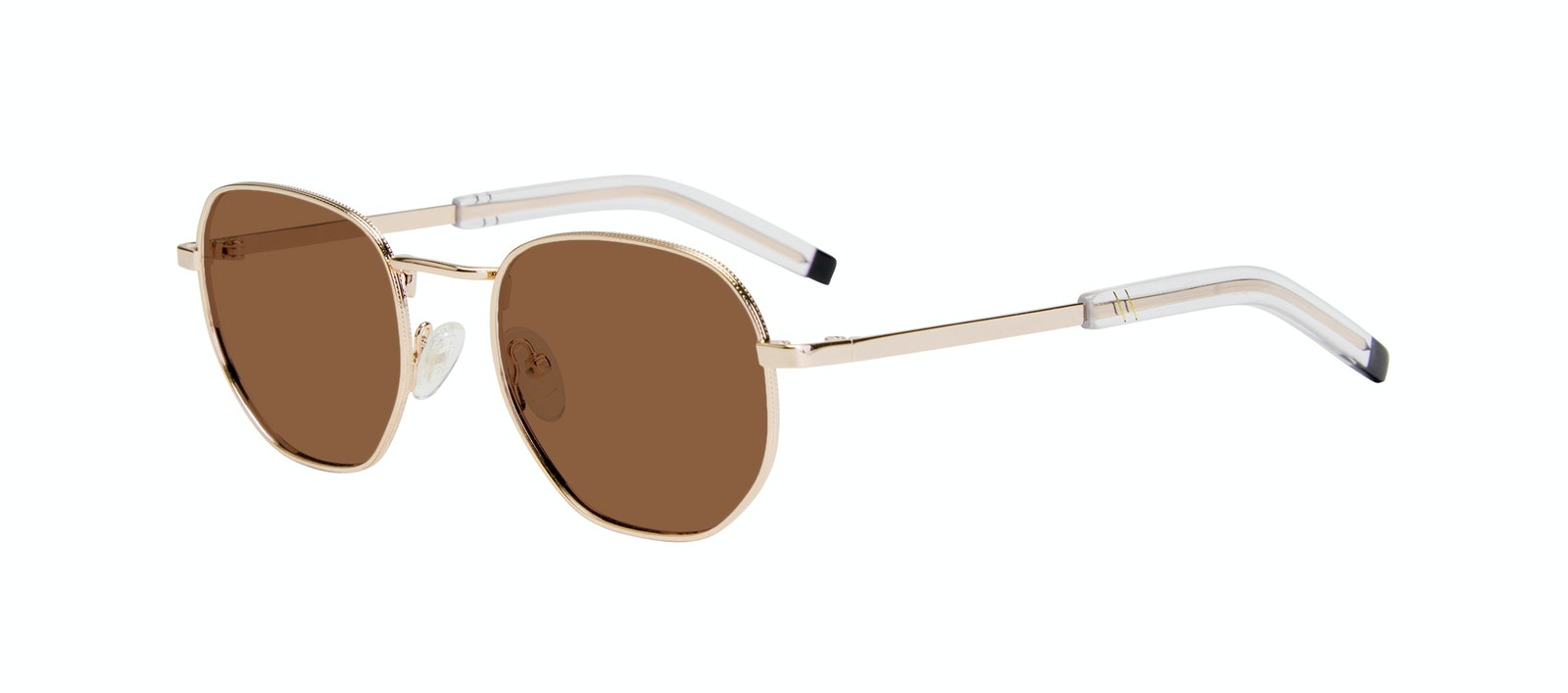 Affordable Fashion Glasses Round Sunglasses Men Rise Gold Tilt
