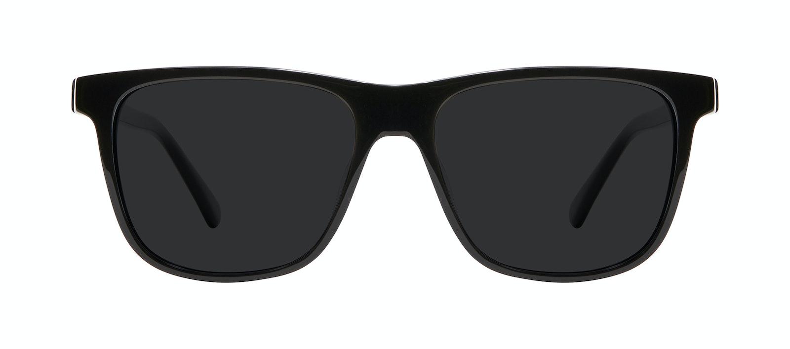 Affordable Fashion Glasses Square Sunglasses Men River Black Front