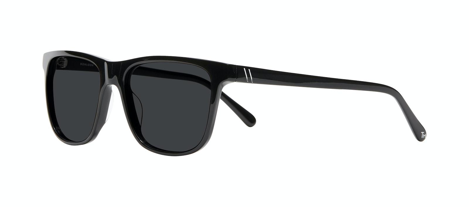 Affordable Fashion Glasses Square Sunglasses Men River Black Tilt