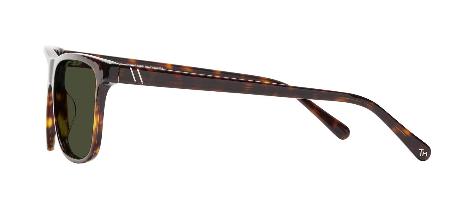Affordable Fashion Glasses Square Sunglasses Men River Tortoise Side