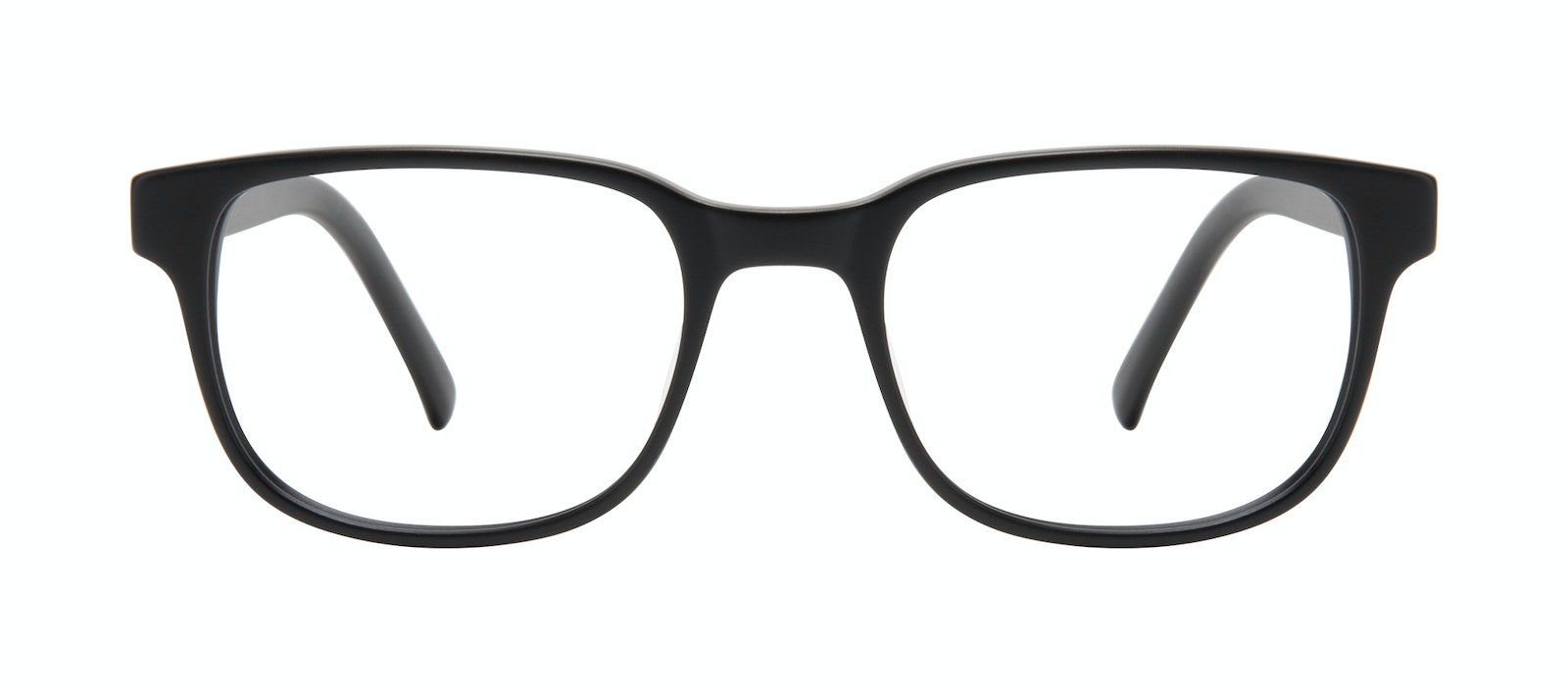 Affordable Fashion Glasses Square Eyeglasses Men Role Black Matte Front