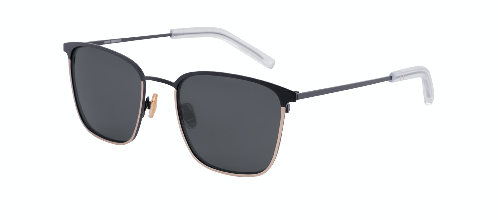 Affordable Fashion Glasses Rectangle Sunglasses Men Rove Deep Gold Tilt