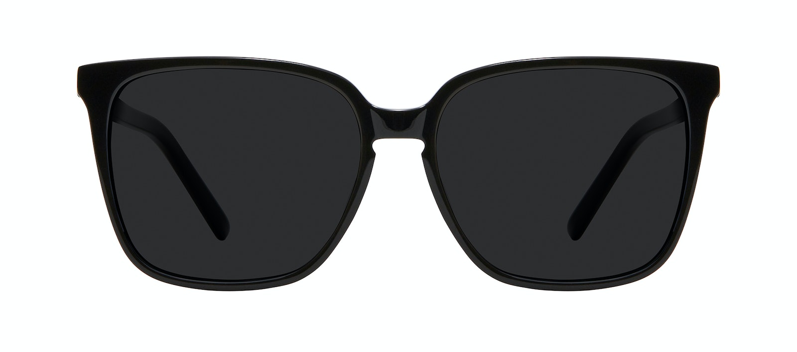 Affordable Fashion Glasses Square Sunglasses Women Runway L Black Front