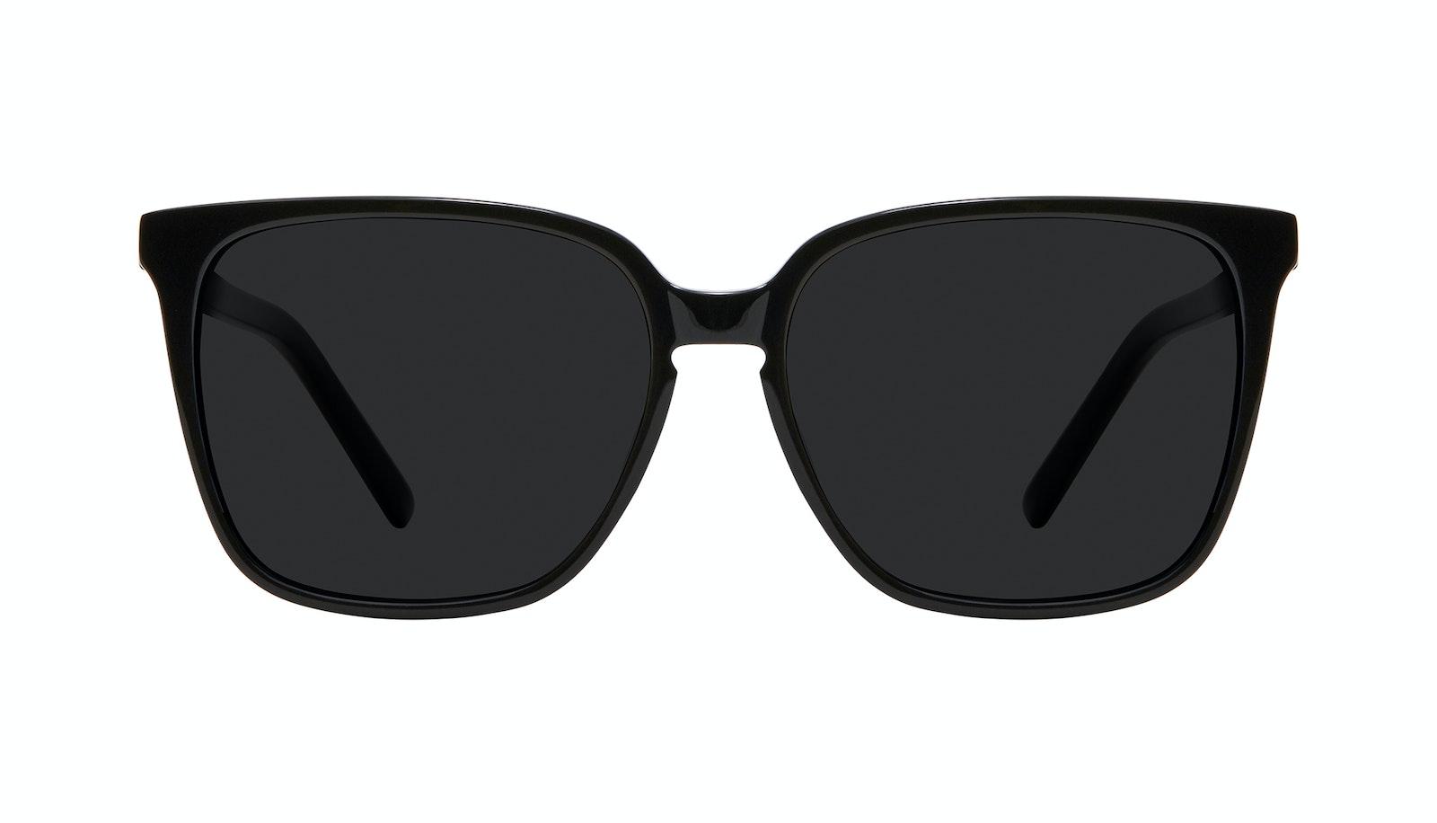 Lunettes tendance Carrée Lunettes de soleil Femmes Runway L Black