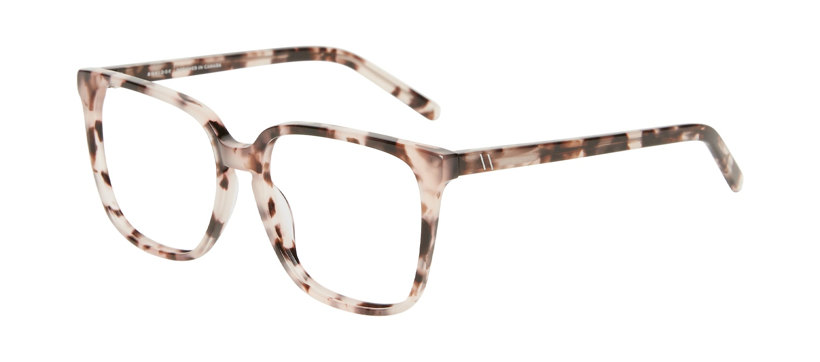 Affordable Fashion Glasses Square Eyeglasses Women Runway L Marbled Pink Tilt