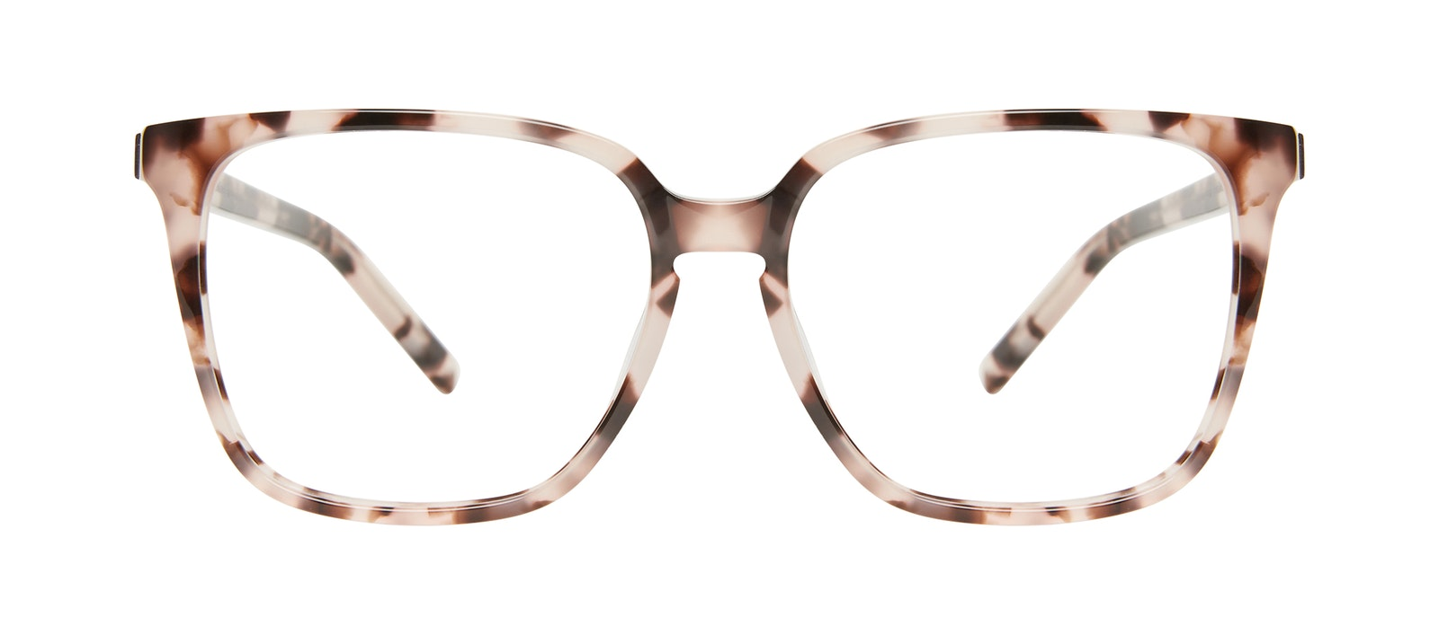 Affordable Fashion Glasses Square Eyeglasses Women Runway L Marbled Pink Front