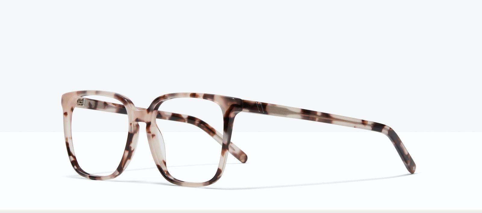 Affordable Fashion Glasses Square Eyeglasses Women Runway S Marbled Pink Tilt