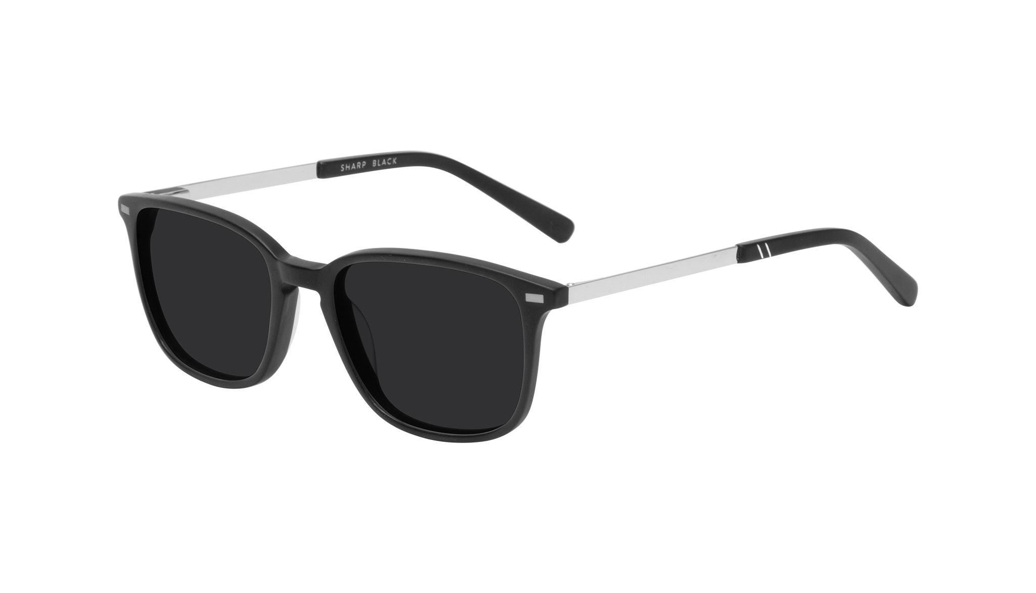 Affordable Fashion Glasses Rectangle Sunglasses Men Sharp Matte Black Tilt