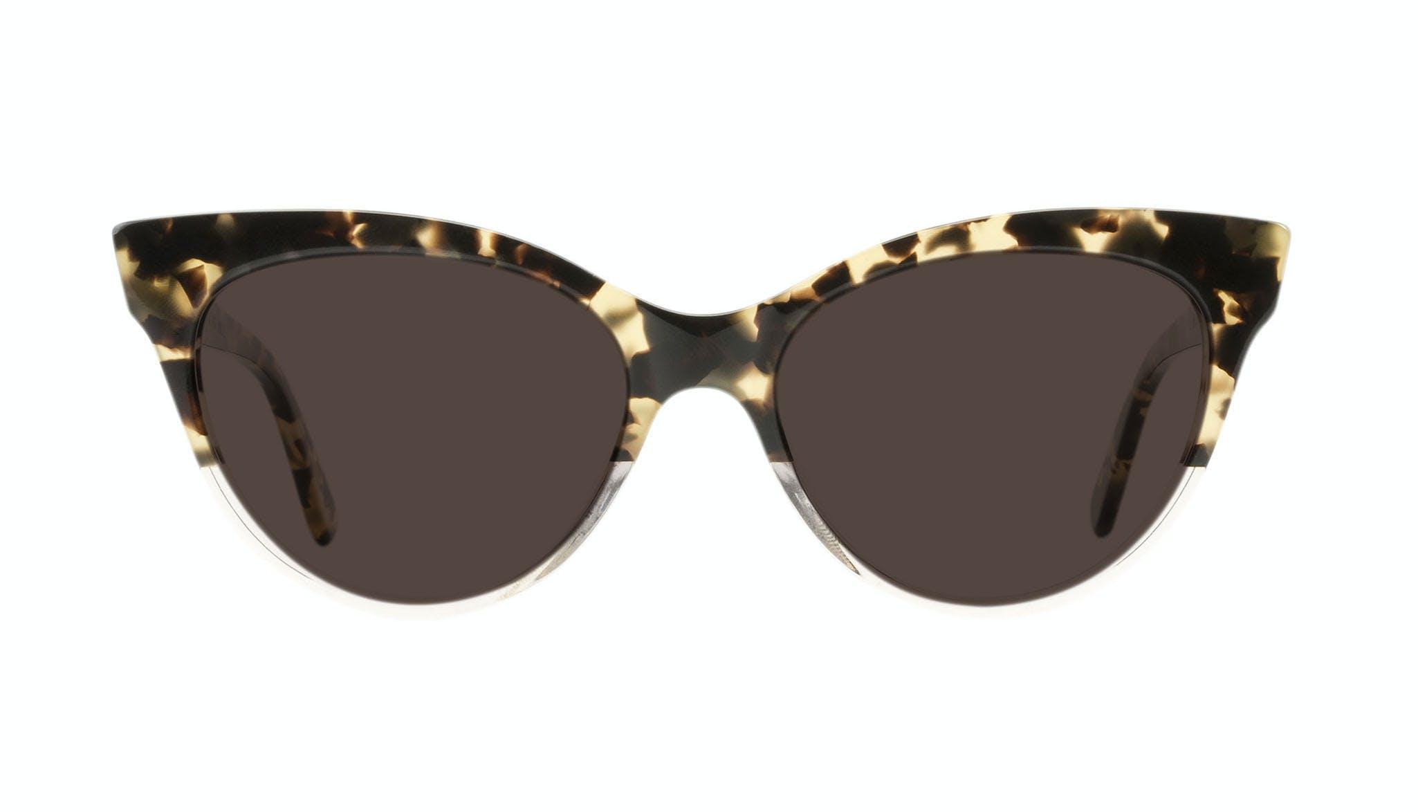 Affordable Fashion Glasses Cat Eye Daring Cateye Sunglasses Women SkunkBoy Champagne Tort Front