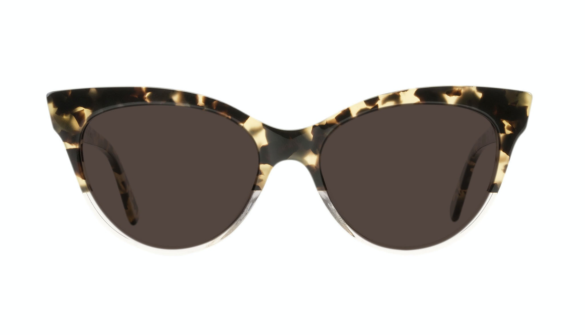 Affordable Fashion Glasses Cat Eye Daring Cateye Sunglasses Women SkunkBoy Champagne Tort Front