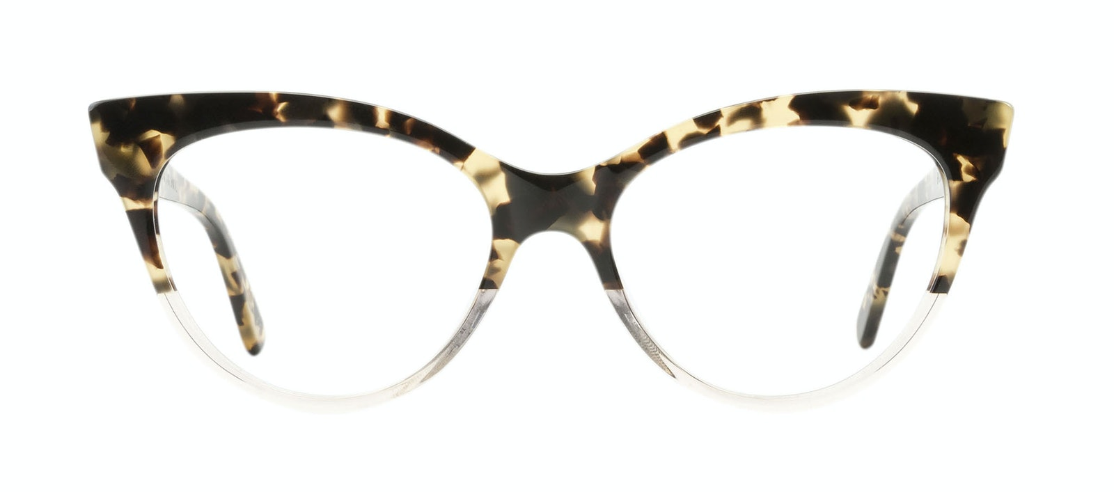 e121296a81ff6 ... Affordable Fashion Glasses Cat Eye Daring Cateye Eyeglasses Women  SkunkBoy Champagne Tort Front ...