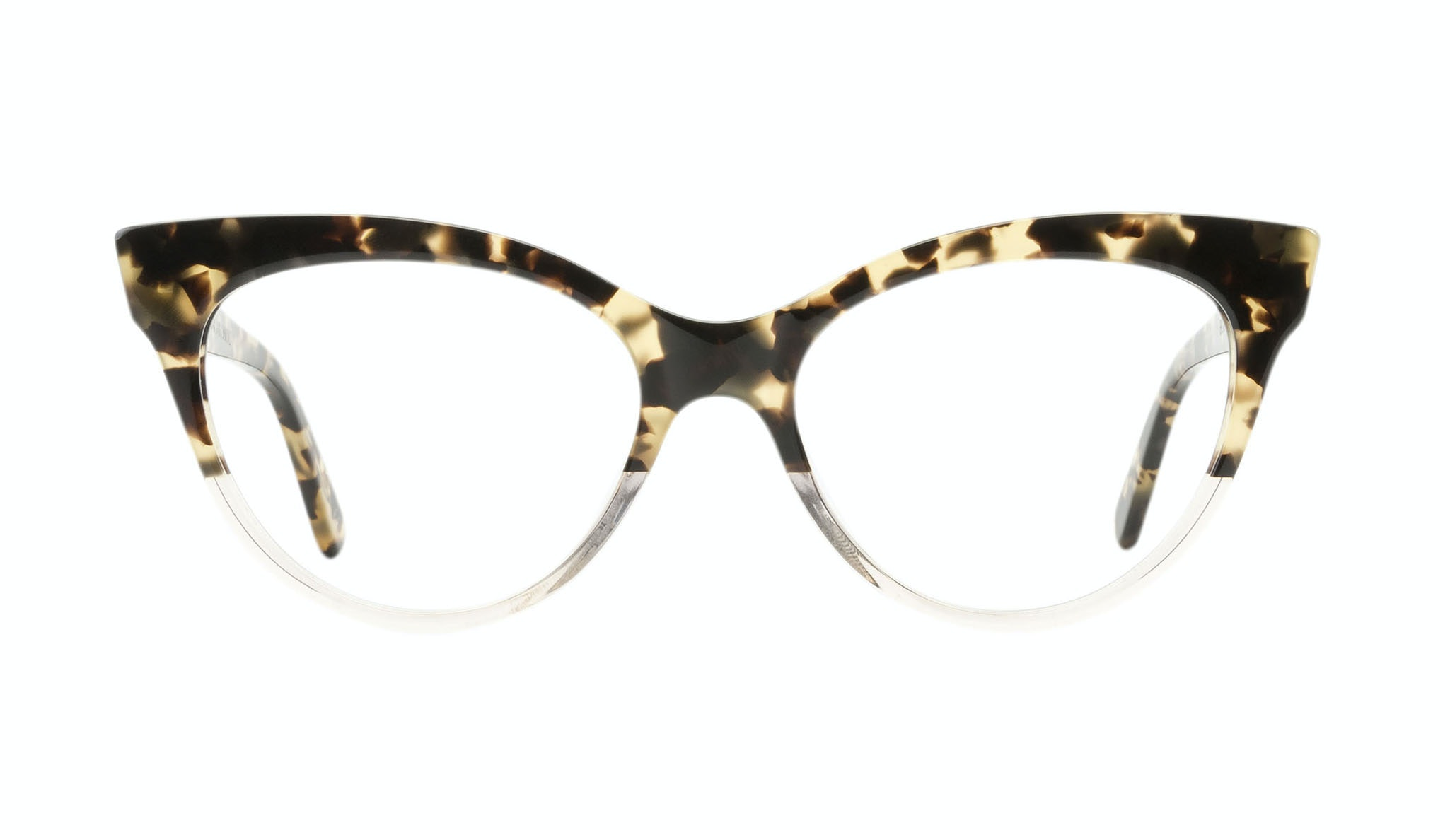 Affordable Fashion Glasses Cat Eye Daring Cateye Eyeglasses Women SkunkBoy Champagne Tort Front