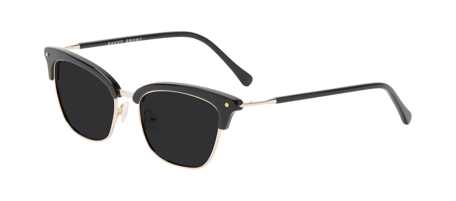 Affordable Fashion Glasses Cat Eye Sunglasses Women Savvy Ebony Tilt