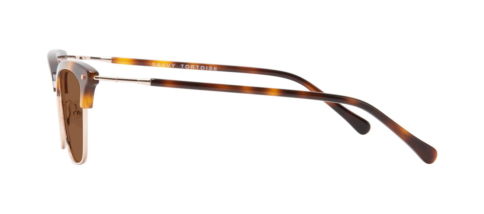 Lunettes tendance Oeil de chat Lunettes de soleil Femmes Savvy Tortoise Profil