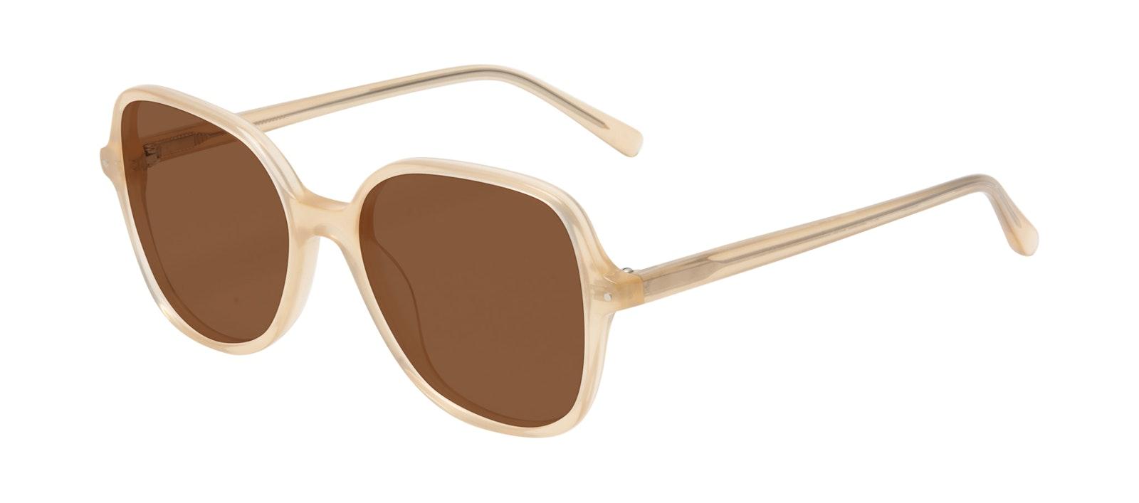 Affordable Fashion Glasses Square Sunglasses Women Scene Peach Tilt